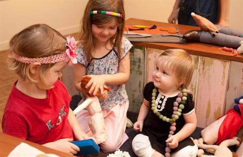 Play time for children at Rockhampton Art Gallery